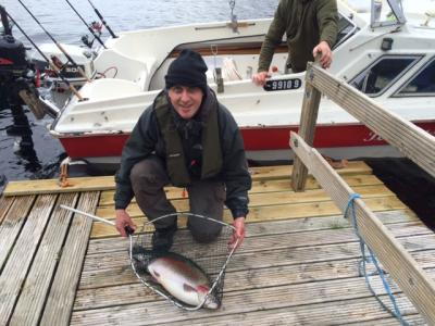 Reel Fisherman lands Rainbow on Rapala