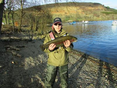 Scott Clark from Renfrew with 10lbs Rainbow