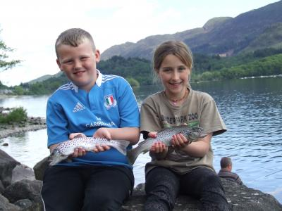 First Trout for Ross