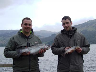 Big Rainbow for Richard and a first for Zander