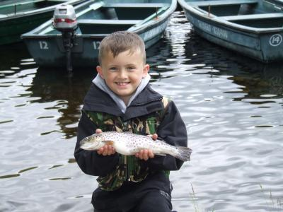 Jason's First Trout